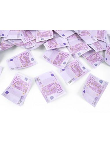 Wystrzałowe konfetti tuba z banknotami 500 euro