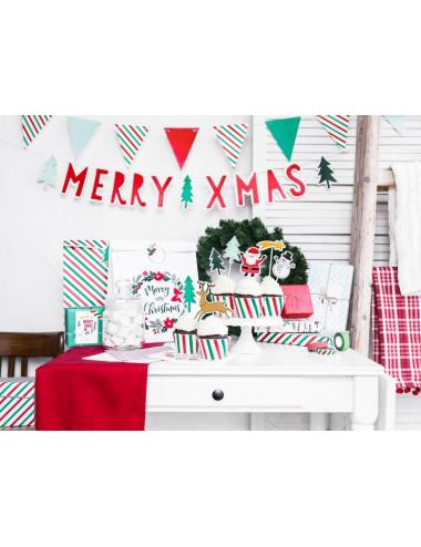 Zawieszki do prezentów Merry Xmas - Wieniec