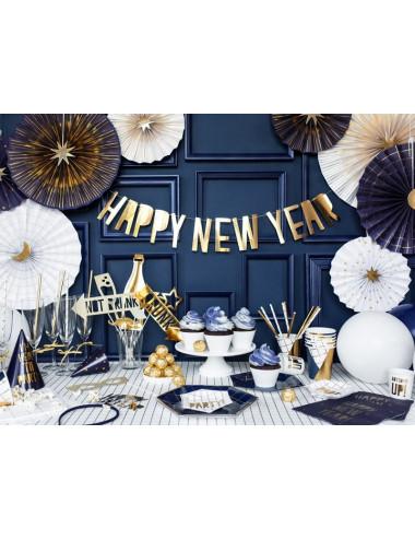 Rozety dekoracyjne Nowy Rok