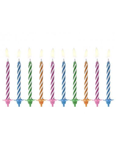 Świeczki na tort magiczne