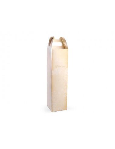 Kremowe pudełka na wino