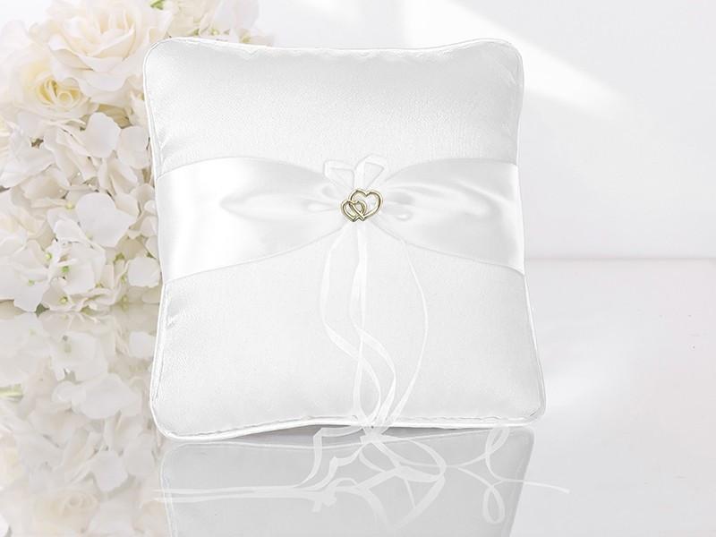 Poduszka pod obrączki biała klamra