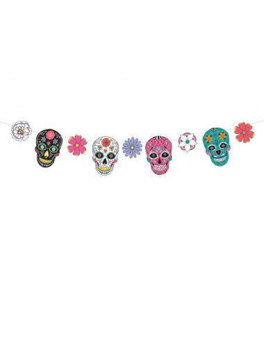 Girlanda Dia de Los Muertos - Maski