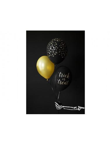 Balony  gumowe czarne w złote nietoperze