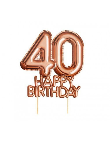 Topper na 40 urodziny