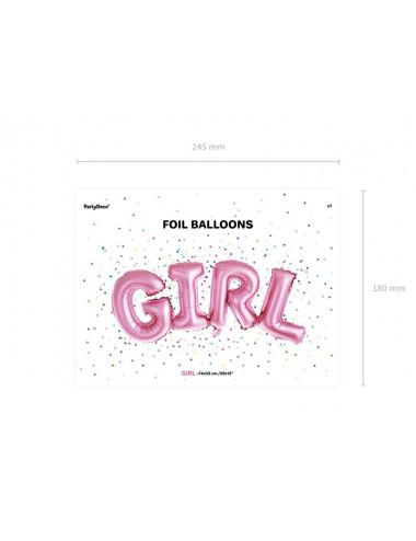 Balon foliowy napis Girl
