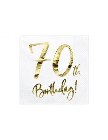 Serwetki na 70 urodziny