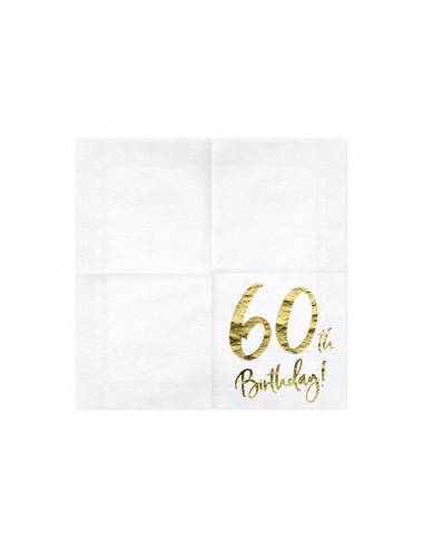 Serwetki na 60 urodziny
