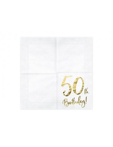 Serwetki na 50 urodziny