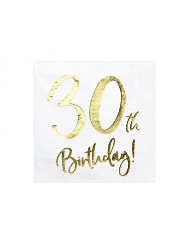 Serwetki na 30 urodziny