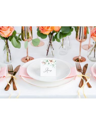 Wizytówki na stół - Kwiaty