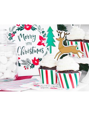 Papilotki - świąteczne osłonki do babeczek
