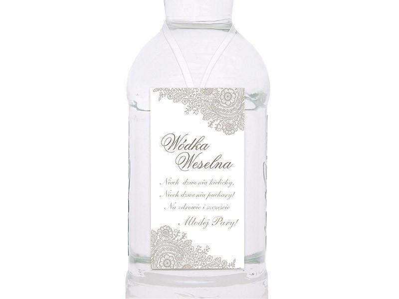 Zawieszki na wódkę weselną srebrne