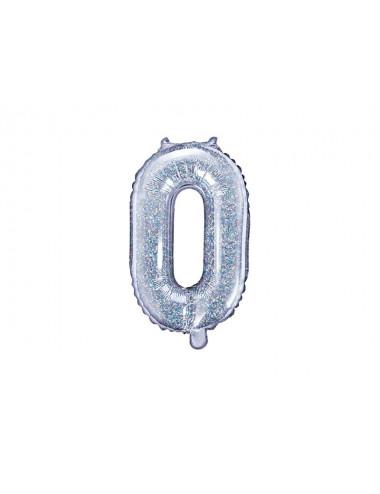 Balon foliowy cyfra 0 35cm