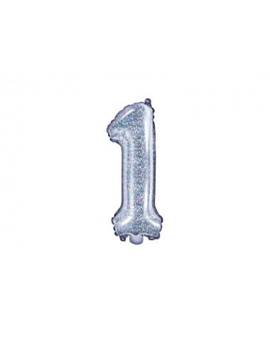 Balon foliowy cyfra 1 35cm