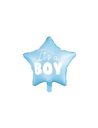 Balon foliowy gwiazdka z napisem It's a boy