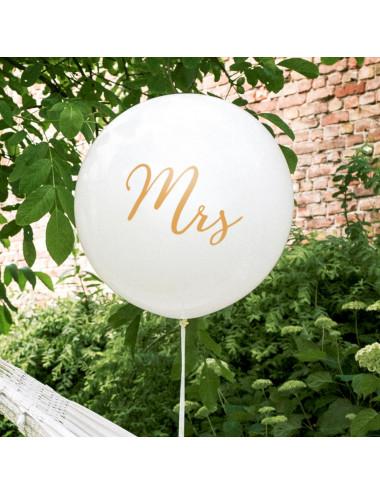 Balon olbrzym metrowy z nadrukiem Mrs (Pani)