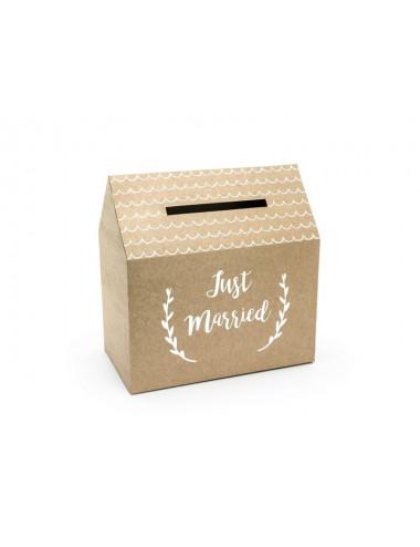 Eko pudełko na koperty domek - Just Married