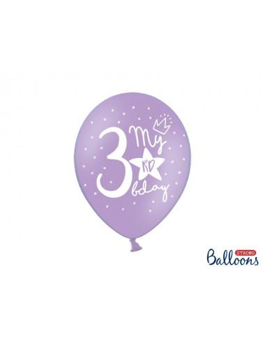 Balony pastelowe na 3 urodziny