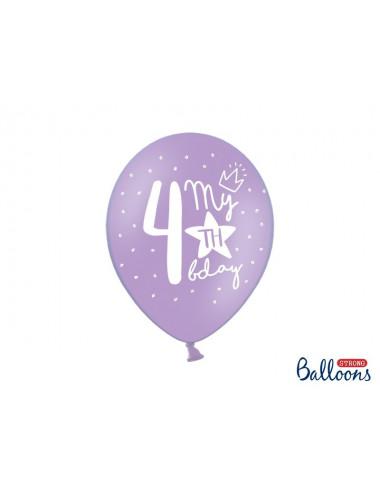 Balony pastelowe na 4 urodziny