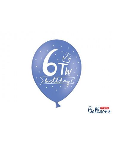 Balony pastelowe na 6 urodziny