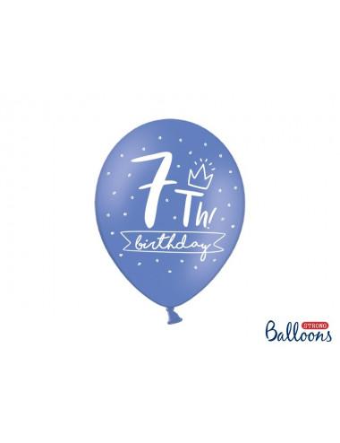 Balony pastelowe na 7 urodziny