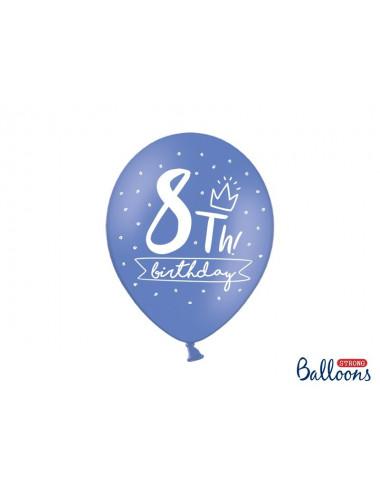 Balony pastelowe na 8 urodziny