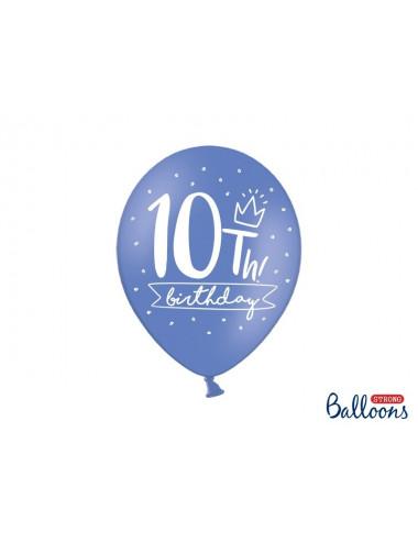 Balony pastelowe na 10 urodziny