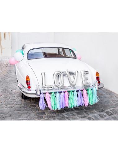 Zestaw dekoracji samochodowych - Love