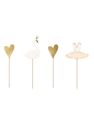 Toppery na tort Lovely Swan - Łabędź