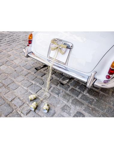 Zestaw dekoracji samochodowych - Kokardki