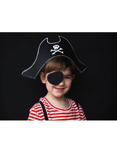 Czapka Pirata z opaską na oko