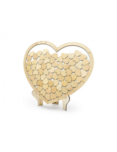Drewniana księga gości - Serce