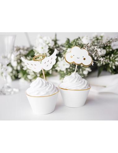 Dekoracje do muffinek - Chmurki i Skrzydła
