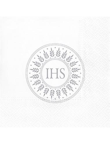 Serwetki  ze srebrnym  nadrukiem IHS