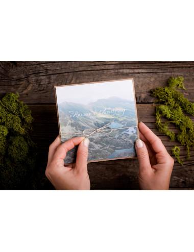 Zaproszenie kwadratowe ze zdjęciem górskie Tatry