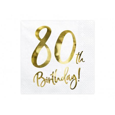 Serwetki na 80 urodziny