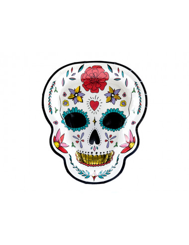 Talerzyki Dia de los Muertos Czaszka