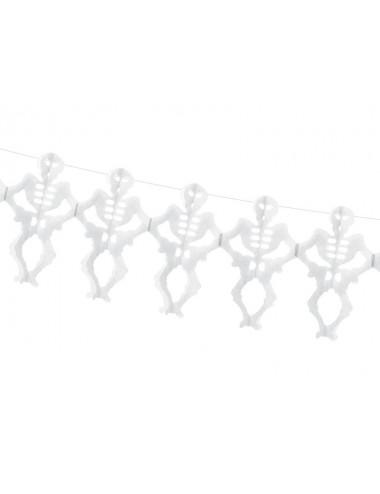 Girlanda bibułowa Szkielety