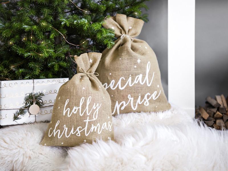 Worek jutowy Holly Christmas