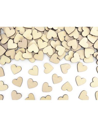 Drewniane konfetti Serca