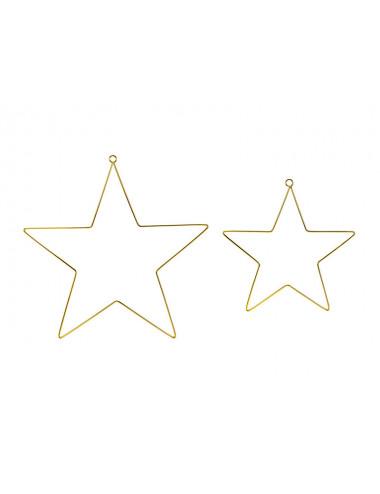 Metalowe zawieszki dekoracyjne Gwiazdy