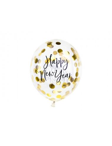 Balony z konfetti - Happy New Year