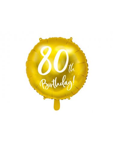Balon foliowy 80th Birthday