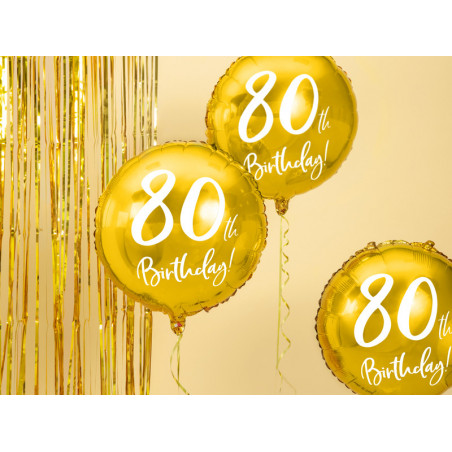 Balon foliowy 80th Birthday
