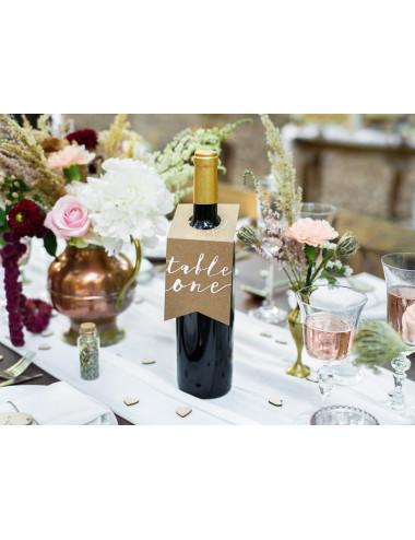Numery na stół - zawieszki na butelki