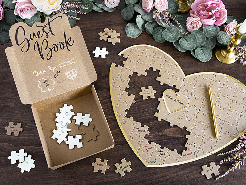 Księga gości puzzle - Serce