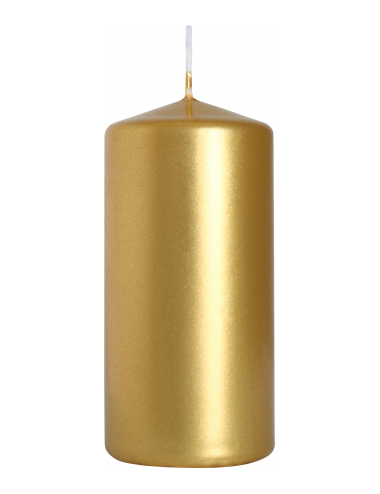 Świeca słupek złota 50x100 BISPOL