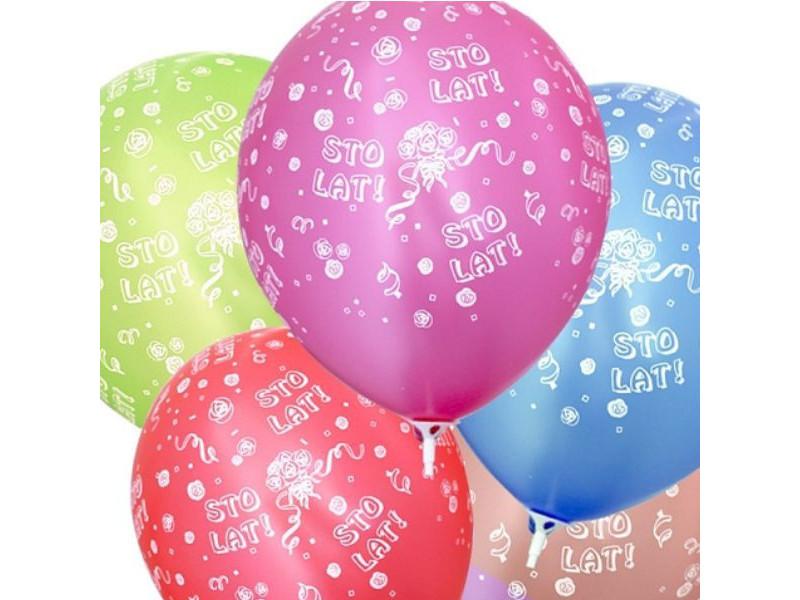 Balony metaliczne z nadrukiem STO LAT