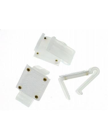 Plastikowe klipsy do mocowania skirtingów